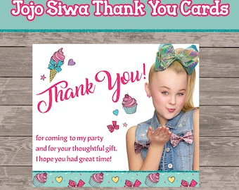 Jojo Siwa Thank you tags