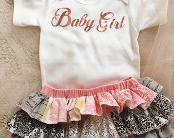 Baby girl coming home outfit - baby photo shoot outfit - first birthday outfit - smash cake outfit - baby shower gift - baby onesie gift