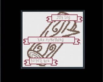 Log Lady Message Digital Cross Stitch Pattern