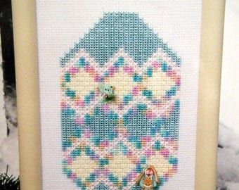 An Easter Egg House By Sekas & Co. Cross Stitch Pattern Leaflet 1999
