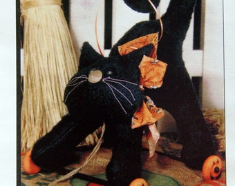 Midnight Kitty Pull Toy By Happy Hollow Designs Uncut Sewing Pattern Packet 2000