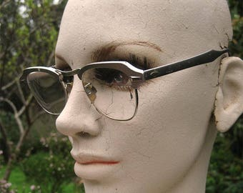 50s Rockabilly B & L Aluminum Frame Glasses