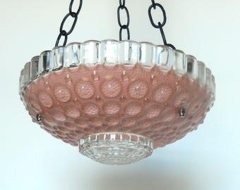 Pink glass garden art bird feeder, glass bird feeder, glass garden art, garden bird feeder, bird feeder, pink bird feeder, pink garden art