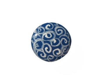 Custom Blue Swirl Shabby Chic Wooden Hand Painted Drawer Pulls Knobs