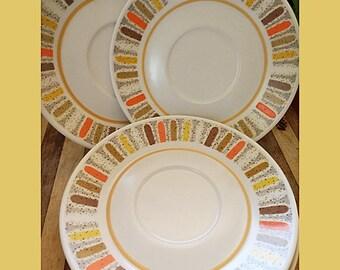 Noritake Mardi Gras Progression 9019 4 Saucers Tea Cup Saucers Made in Japan