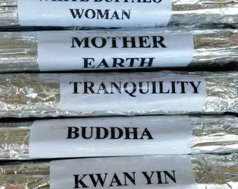 It Can Be Better Incense Bundle...White Buffalo Woman..Mother Earth..Tranquility..Buddha..Kwan Yin..Lakshmi. Messages of Serenity & Rebirth.
