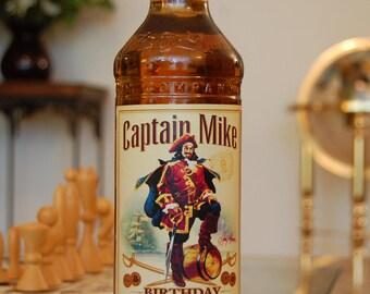 Birthday Captain Morgan 750 mL labels