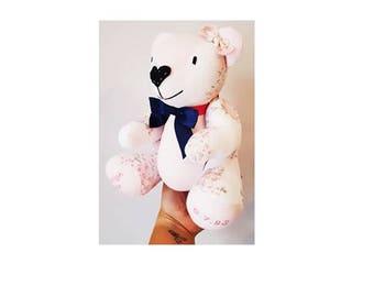 Memory Bear, Keepsake Bear, Bear made from Clothes, Rememberence Bear, Memorial Bear, Clothing Bear, Custom Bear