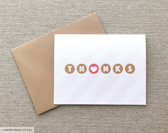 Thanks Candy Stripes Greeting Card