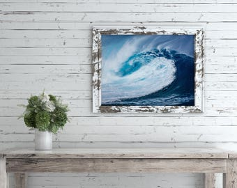 Ocean Print, Wave Print, Surfer Art, Beach House Decor, Coastal Home, Ocean Photography, Fine Art, 8x10, 11x14, 16x20, 18x24, 24x30 Poster