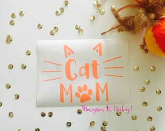 Cat Mom Decal | Cat Decal Sticker | Laptop Decal | Pet Decal | I love my cat | Cat sticker | Car Decal