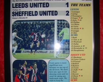 Leeds United 1 Sheffield United 2 - 2017 - souvenir print