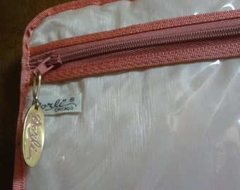 Vintage Dorli Hanging Pink Vinyl Travel Bag for Lingerie
