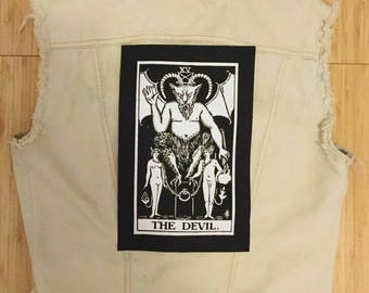 The Devil Tarot Card Back Patch
