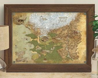 The Legend Of Zelda (Termina - Majoras Mask) - Giclée Map