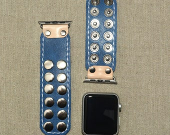 Blue Apple Watch Band 42mm - iWatch Band Accessories - Apple Watch Strap 38mm - iWatch Strap Adapter