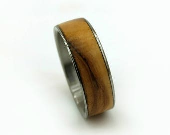Olive Wood Ring, Bethlehem Olive Wood, Old World Wood, Mediterranean Wood Ring, Wood Ring, Handmade, Womens Ring, Mens Ring, Wedding Ring