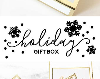 Personalized Gift Box for Women Christmas Gift Box Gift Box Large Holiday Gift Box for Her Birthday Gift (EB3171HLD) PERSONALIZED EMPTY BOX