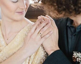 Bridal and wedding jewellery set. Handmade bridal parure. 18k gold bridal jewellery set.