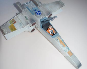 Star Wars X Wing Fighter 1995 by Tonka with Luke Skywalker Action Figure by Kenner 1995
