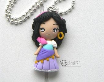 Esmeralda princess inspired, Necklace