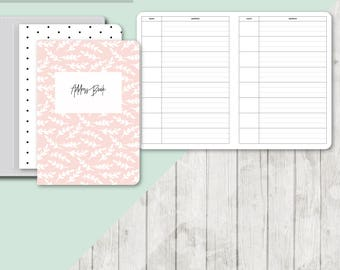 TN B6 Size: Address Book, Printable Travelers Notebook Insert, B6 Tn, Printable Planner, Addresses, Contacts - Classic Series