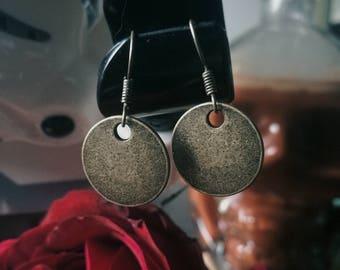 Brass Disc Handmade Antique Earrings