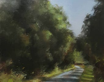 Country Lane ORIGINAL oil painting-Landscape painting-wall art-Neil Carroll