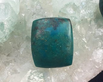 Chrysocolla Square 18 mm x 15 mm