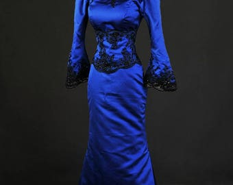 Once Upon A Time Blue Regina Evil Queen Custom Made Cosplay Costume Gown