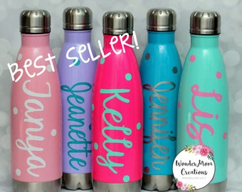 Personalized Water Bottle; Bridal Party Personalized Water Bottle; Bridesmaid Water Bottles; Bride Water Bottle; Personalized Workout Bottle