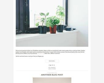 Photography Blogger Template - 1 One column Blogspot Template - Minimalist Blog Layout - December