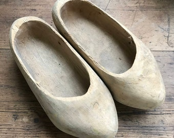 Pair of wooden clogs for children