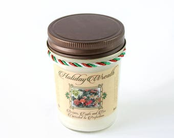 Holiday Wreath Scent - Natural Soy Candle