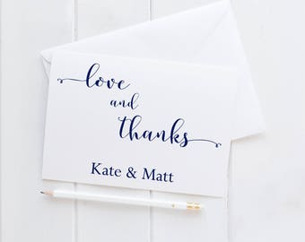 Personalized Thank You Cards. Custom Thank You Cards. Wedding Shower Thank You Cards. Personalized Folded Thank you Cards For Wedding.