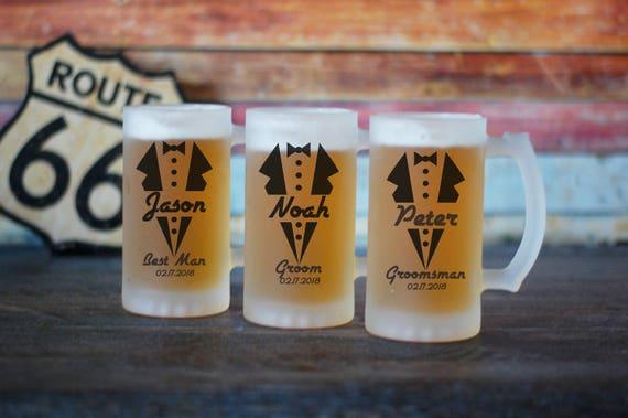 Personalized Groomsman Beer Stein, Groomsman Beer Mug, Gift For Groomsman, Custom Beer Stein, Groomsman Proposal Beer Stein, Groomsman Beer