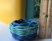 "Hand woven basket titled ""mini earth"""