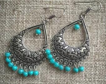 beautiful turquoise earring