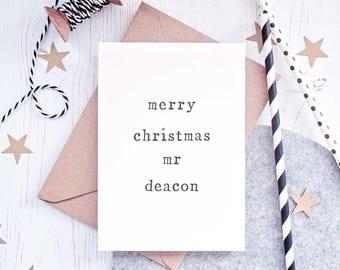 Mrs Christmas Card, Wife Christmas Card, Mr Christmas Card, Husband Christmas Card, Card for Husband, Card for Wife, Mrs Card, Mr Card
