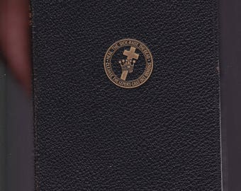 """Science And Health With Key To The Scriptures by Mary Baker Eddy. Christ Scientist. 1922 Leather Bound In Very Good Condition. 6.5"""" x 4.5""""."""