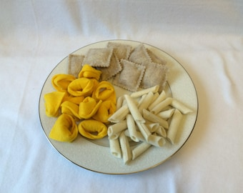 Felt Pasta Set, Pick 3 Varieties, Felt Food, Play Food