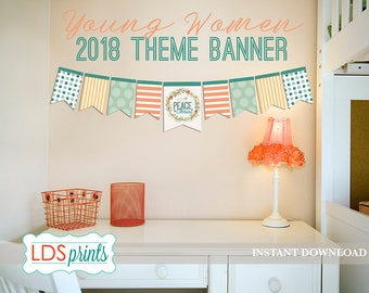 LDS 2018 Mutual Theme Banner  - Peace In Christ