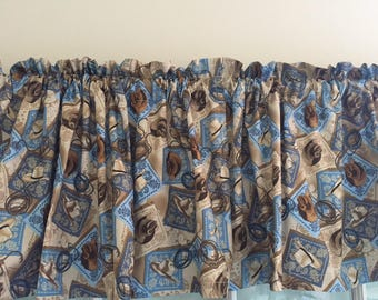 Wild West Cowboy Hats Valance ~ 42 inches wide