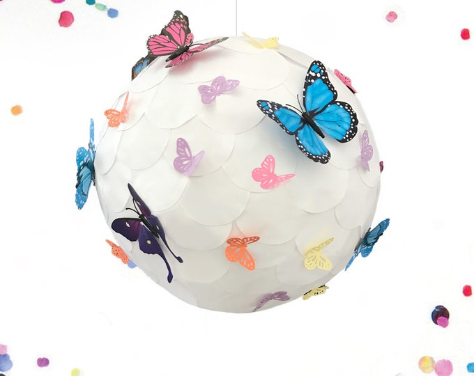 Gender Reveal Piñata, Butterfly Piñata, Pull String Gender Reveal Piñata, Spring Gender Reveal Piñata , Gender Reveal Party Ideas