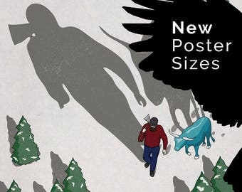 New Paul Bunyan And Babe The Blue Ox Poster Digital Art Print