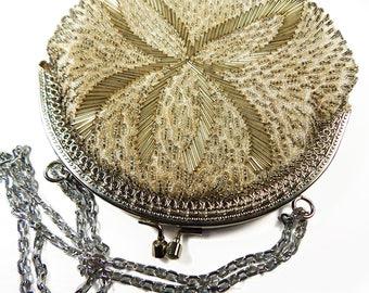 Vintage Beaded Clutch - Vintage Handbag - Evening Bag - Evening Clutch