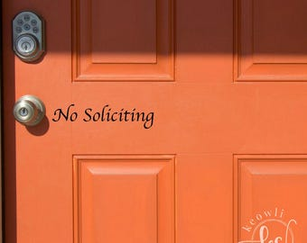 No Soliciting Vinyl Decal-Style 01