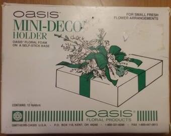 Oasis Mini-Deco Holder, Oasis Floral Foam, Self-Stick Floral Foam, Floral Arrangements, Flower Arranging, Vintage Floral Foam, 12 pack oasis