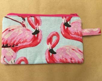Flamingo Clutch / Pencil Case