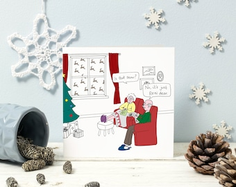 Funny Christmas card | Is that Snow? | Dad-joke humour